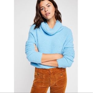 NWT Free People Stormy Cowl Neck Cozy Sweater XS